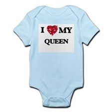 I love my Queen hearts design Body Suit