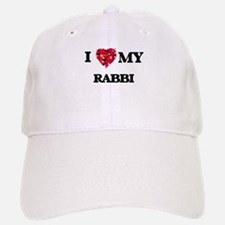 I love my Rabbi hearts design Baseball Baseball Cap