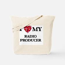 I love my Radio Producer hearts design Tote Bag