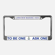 Longview License Plate Frame