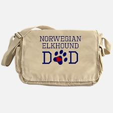 Norwegian Elkhound Dad Messenger Bag
