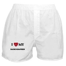 I love my Radiographer hearts design Boxer Shorts