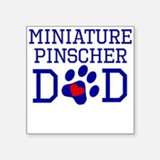 Miniature Pinscher Dad Sticker