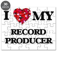 I love my Record Producer hearts design Puzzle