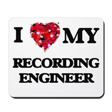 I love my Recording Engineer hearts desi Mousepad