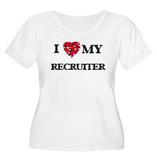 I love my Recruiter hearts desig Plus Size T-Shirt
