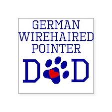 German Wirehaired Pointer Dad Sticker