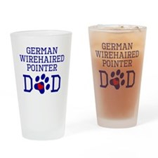 German Wirehaired Pointer Dad Drinking Glass