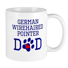 German Wirehaired Pointer Dad Mugs