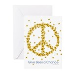 Give Bees a Chance Greeting Cards (Pk of 20)