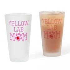 Yellow Lab Mom Drinking Glass