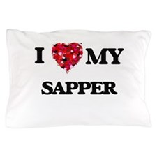 I love my Sapper hearts design Pillow Case