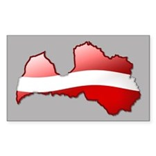 """Latvia Bubble Map"" Rectangle Decal"
