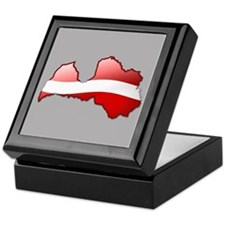 """""""Latvia Bubble Map"""" Keepsake Box"""