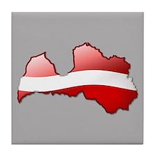 """""""Latvia Bubble Map"""" Tile Coaster"""