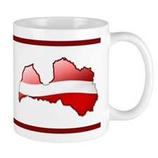 """Latvia Bubble Map"" Mug"