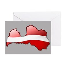 """Latvia Bubble Map"" Greeting Cards (Pk of 10)"