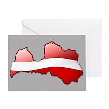 """Latvia Bubble Map"" Greeting Card"