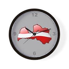 """""""Latvia Bubble Map"""" Wall Clock"""