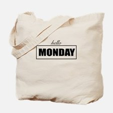 Hello Monday Tote Bag