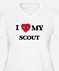 I love my Scout hearts design Plus Size T-Shirt
