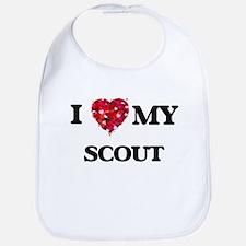 I love my Scout hearts design Bib