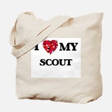 I love my Scout hearts design Tote Bag