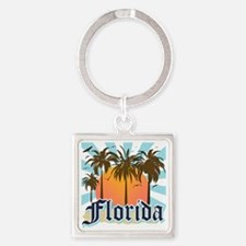 Florida The Sunshine State Square Keychain