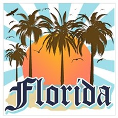 Florida The Sunshine State Poster