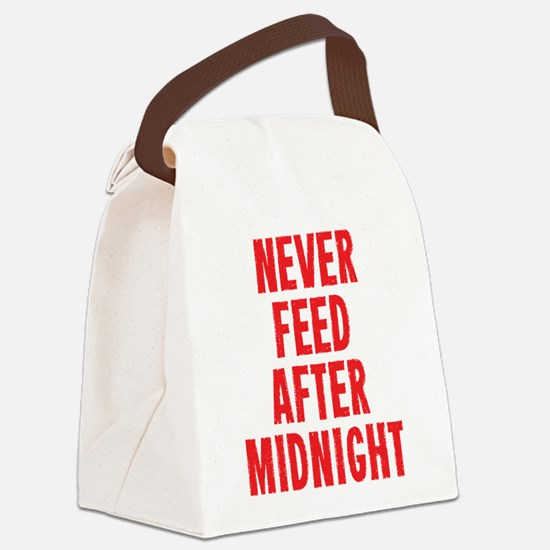 Never Feed After Midnight Canvas Lunch Bag