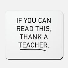 Thank A Teacher Mousepad
