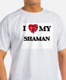 I love my Shaman hearts design T-Shirt