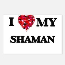 I love my Shaman hearts d Postcards (Package of 8)