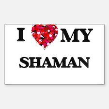 I love my Shaman hearts design Decal