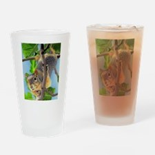 Funny Grey squirrel Drinking Glass