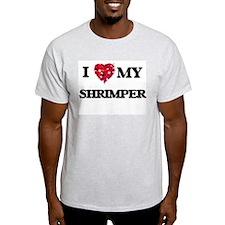 I love my Shrimper hearts design T-Shirt