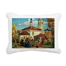 Kustodiev, In Old Suzdal Rectangular Canvas Pillow