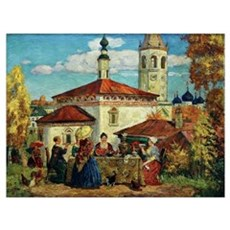 Kustodiev, In Old Suzdal Framed Print
