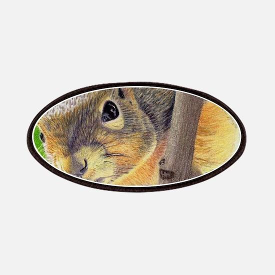 Cute Grey squirrel Patch