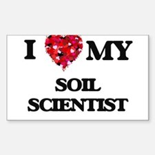 I love my Soil Scientist hearts design Decal