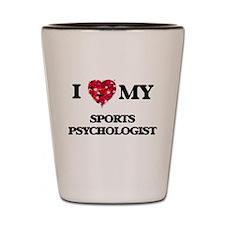 I love my Sports Psychologist hearts de Shot Glass