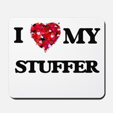 I love my Stuffer hearts design Mousepad