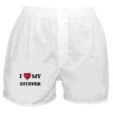 I love my Stuffer hearts design Boxer Shorts