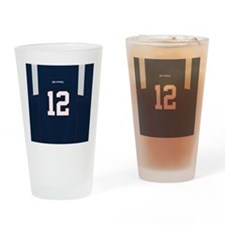 Cute Tom brady Drinking Glass