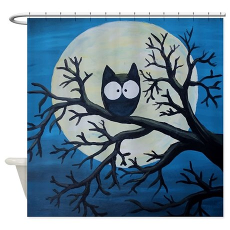 Night owl shower curtain by admin cp1053336 for Night owl paint color