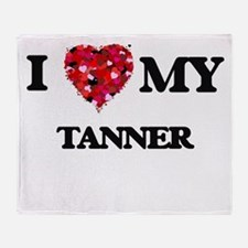 I love my Tanner hearts design Throw Blanket