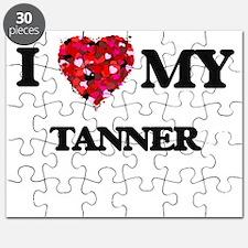 I love my Tanner hearts design Puzzle