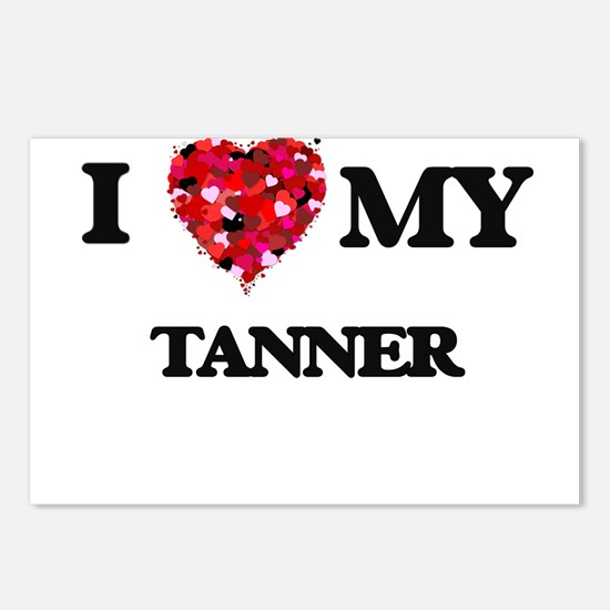 I love my Tanner hearts d Postcards (Package of 8)