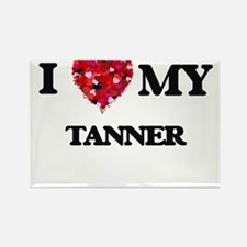 I love my Tanner hearts design Magnets