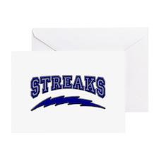 Streaks Greeting Card